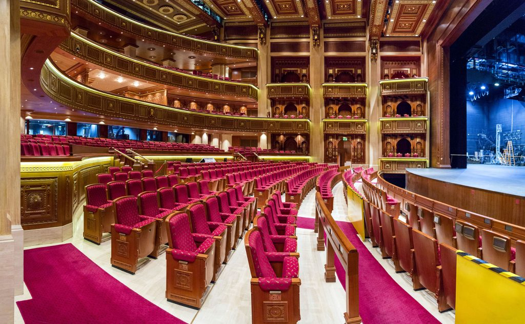 Auditorium of the Royal Opera House Muscat