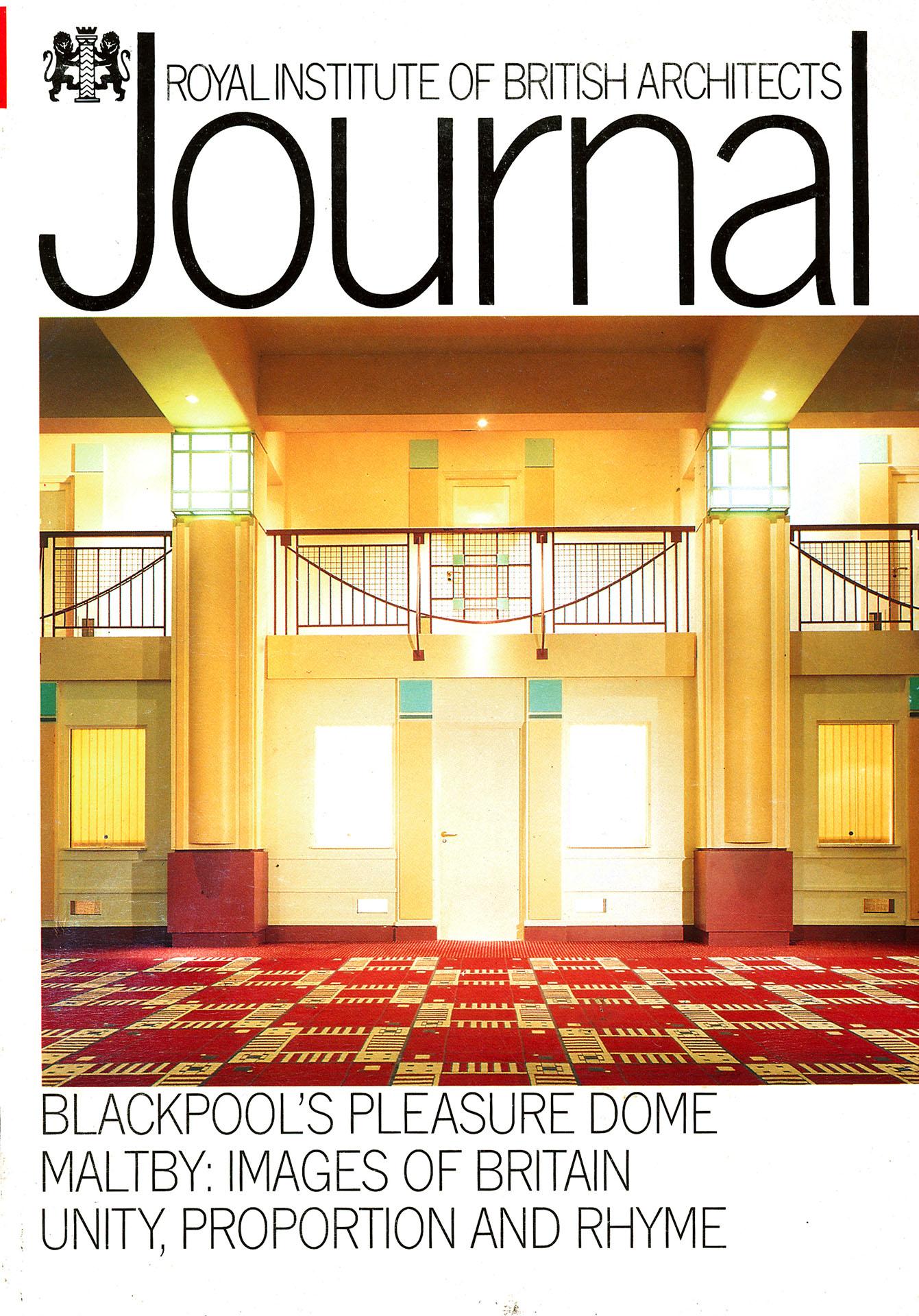RIBA Journal cover story, John Maltby inside