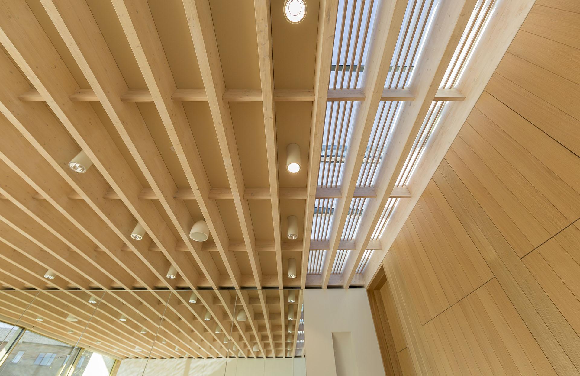 Internal detail of roof light well